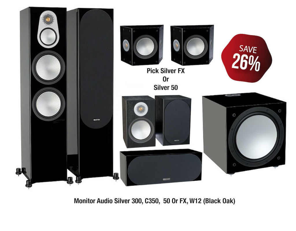 Monitor Audio Silver 300 Speaker Package - Ultra Sound & Vision
