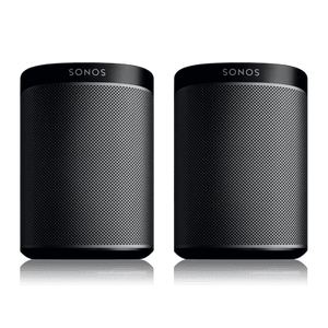Sonos Wireless Speaker Black Sonos Two Room Set with Play 1 Wireless Speakers