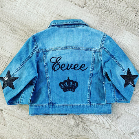 PERSONALISED GIRLS DENIM JACKET
