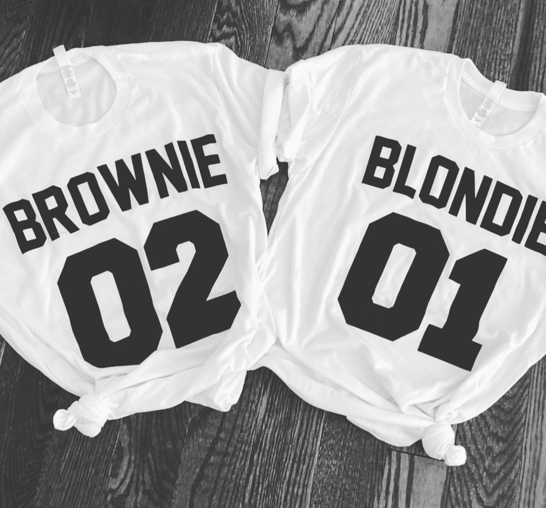 BLONDIE & BROWNIE T SHIRT WOMENS