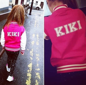 PINK PERSONALISED VARSITY JACKET