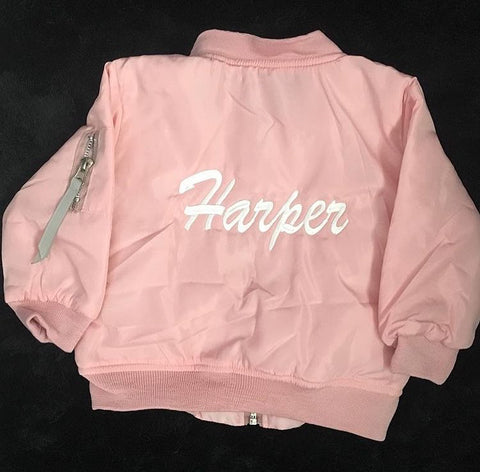 PINK BABIES PERSONALISED BOMBER