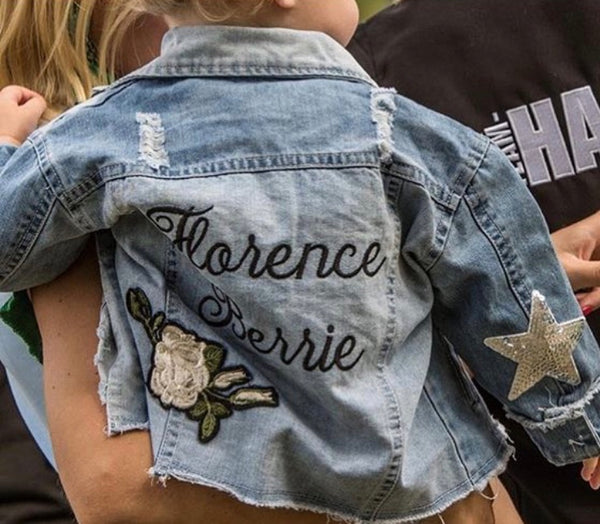 'THE HARLOW' PERSONALISED DENIM JACKET