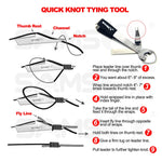 Quick Knot Tool, Line Cutter and Hook Sharpener