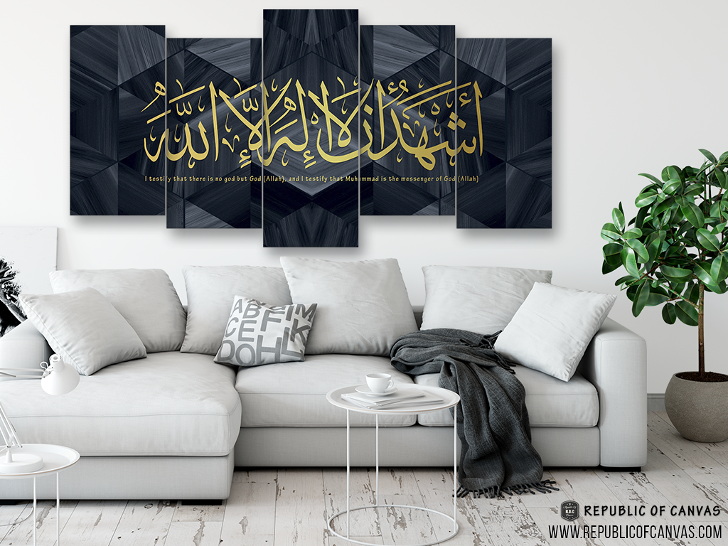 Fantastic Wallpaper Marble Calligraphy - shahada_gold_blue_marble_hexagon_mck4_1024x1024  Best Photo Reference_526039.png?v\u003d1527377436