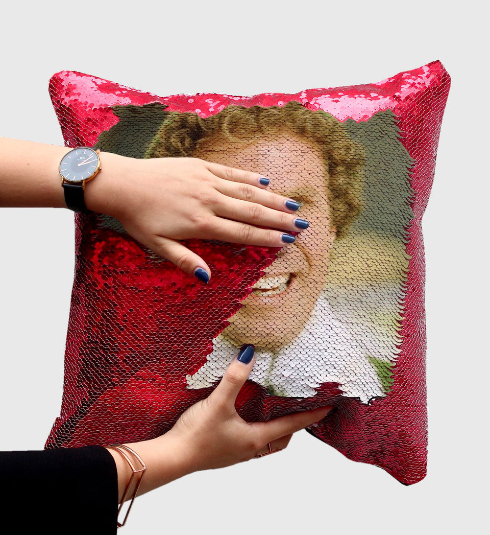 Buddy The Elf Sequin Pillow C25 (Cover + Insert)