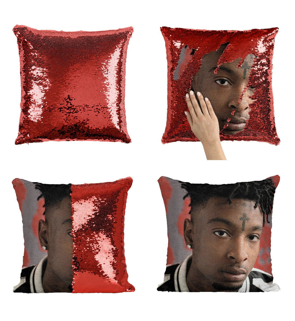 21 Savage Sequin Pillow