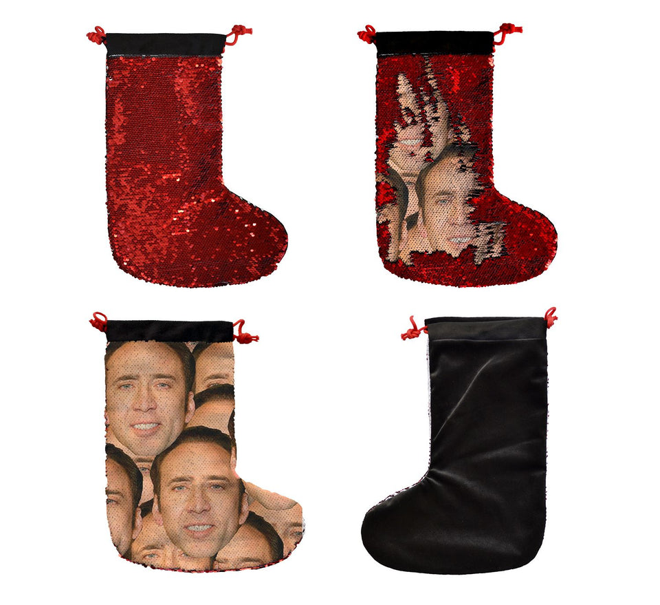 Nicolas Cage Mashup Faces _SS0053 Gift Christmas Stocking