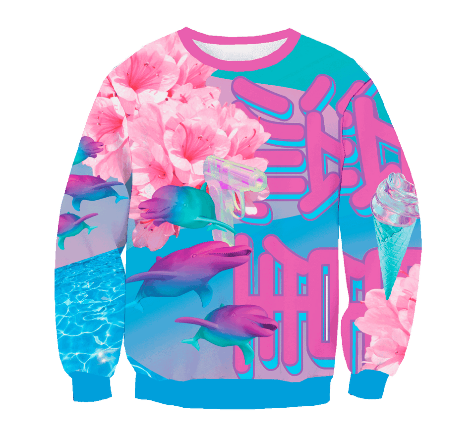 Full-Print Crewneck | VaporWave Collection