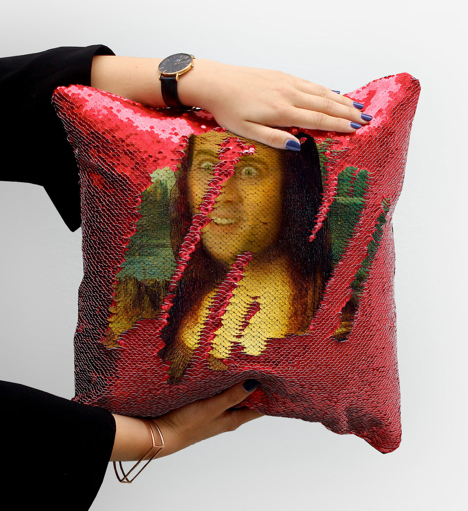 Mona Lisa Nicolas Cage | Magic Pillow