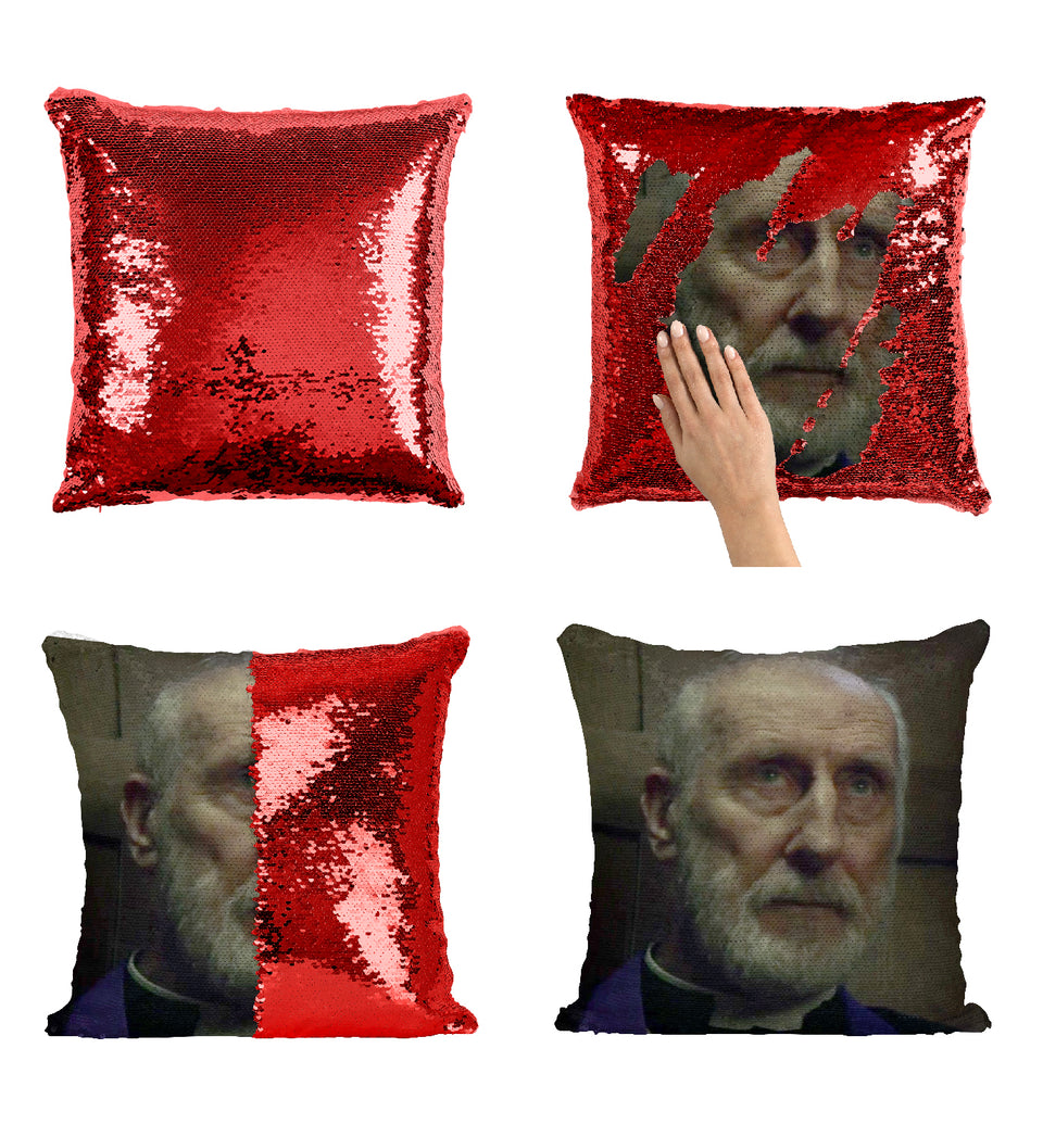 James Cromwell Priest Role_MA0166 Sequin Pillow