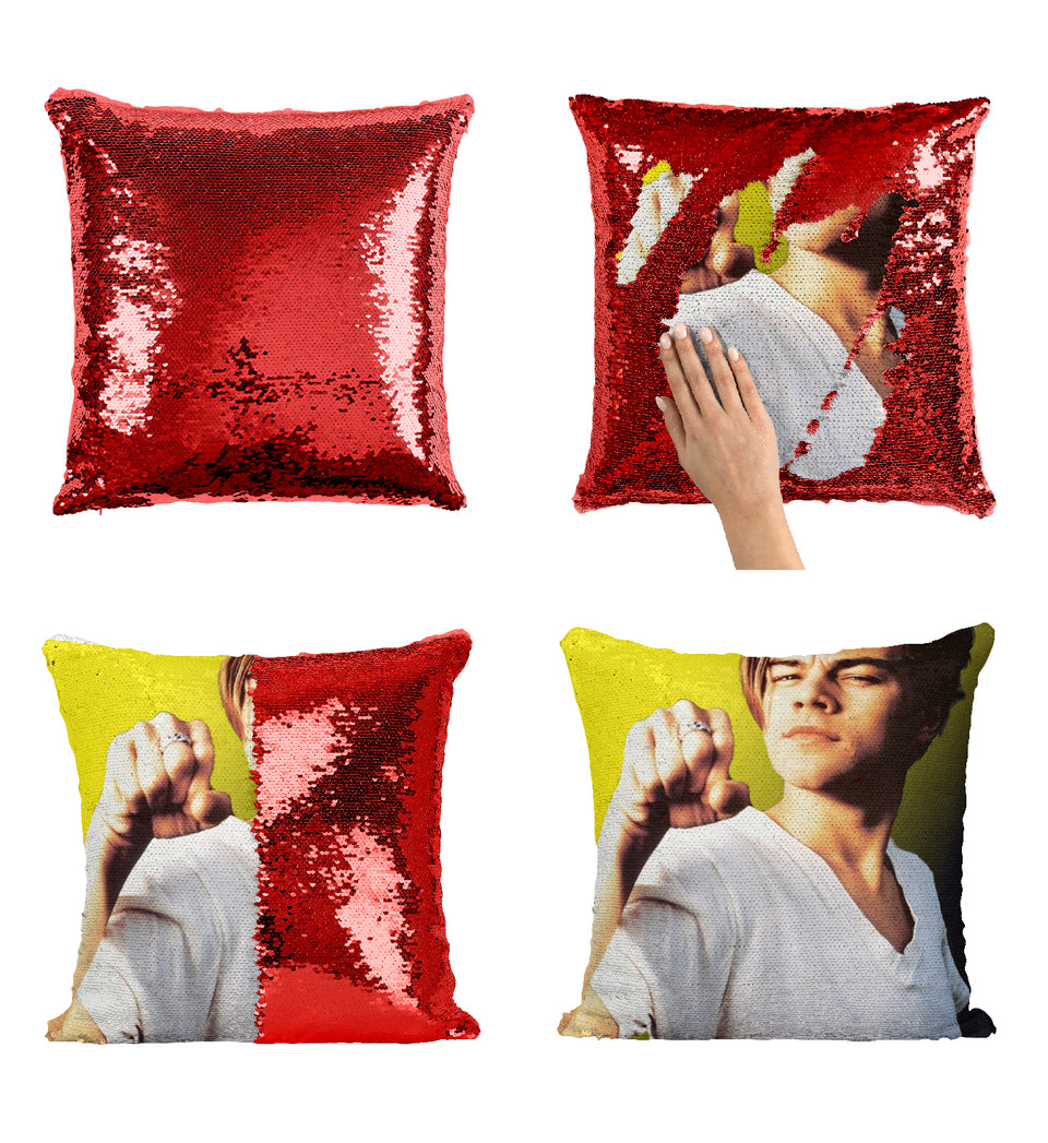 Leonardo DiCaprio Young Titanic_MA0219 Sequin Pillow