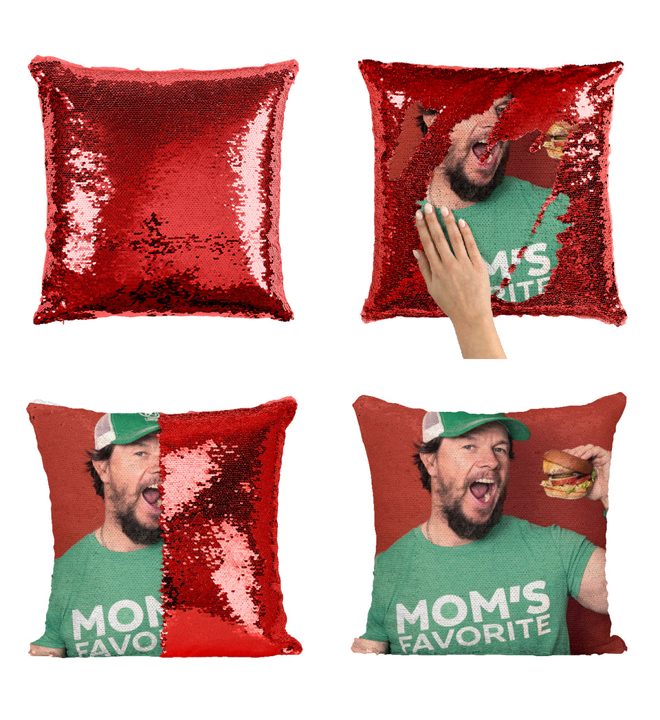 Mark Wahlberg Mom's Favorite Ted Actor_MA0229 Sequin Pillow