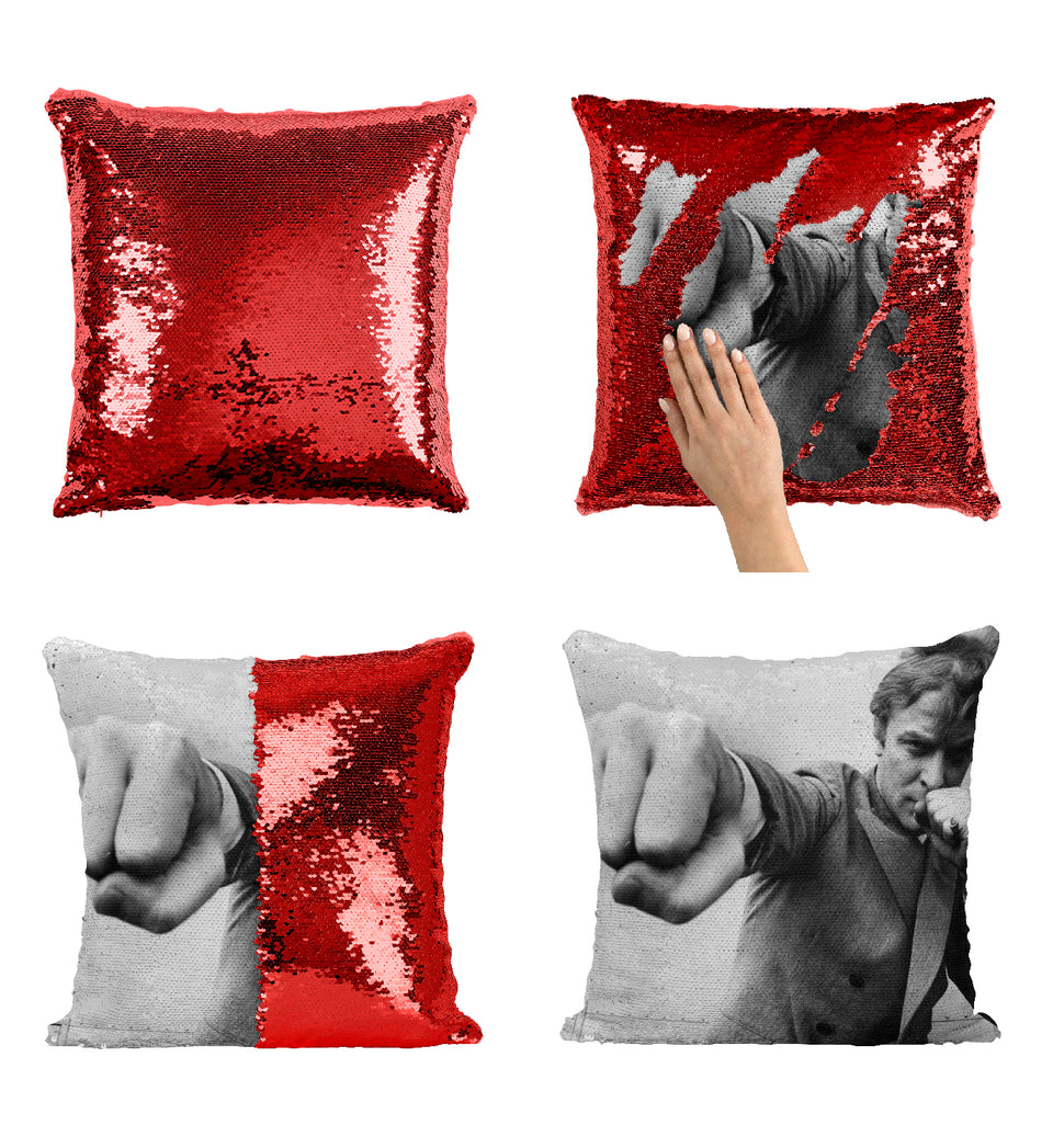 Michael Cane Fist Young Fighting_MA0253 Sequin Pillow