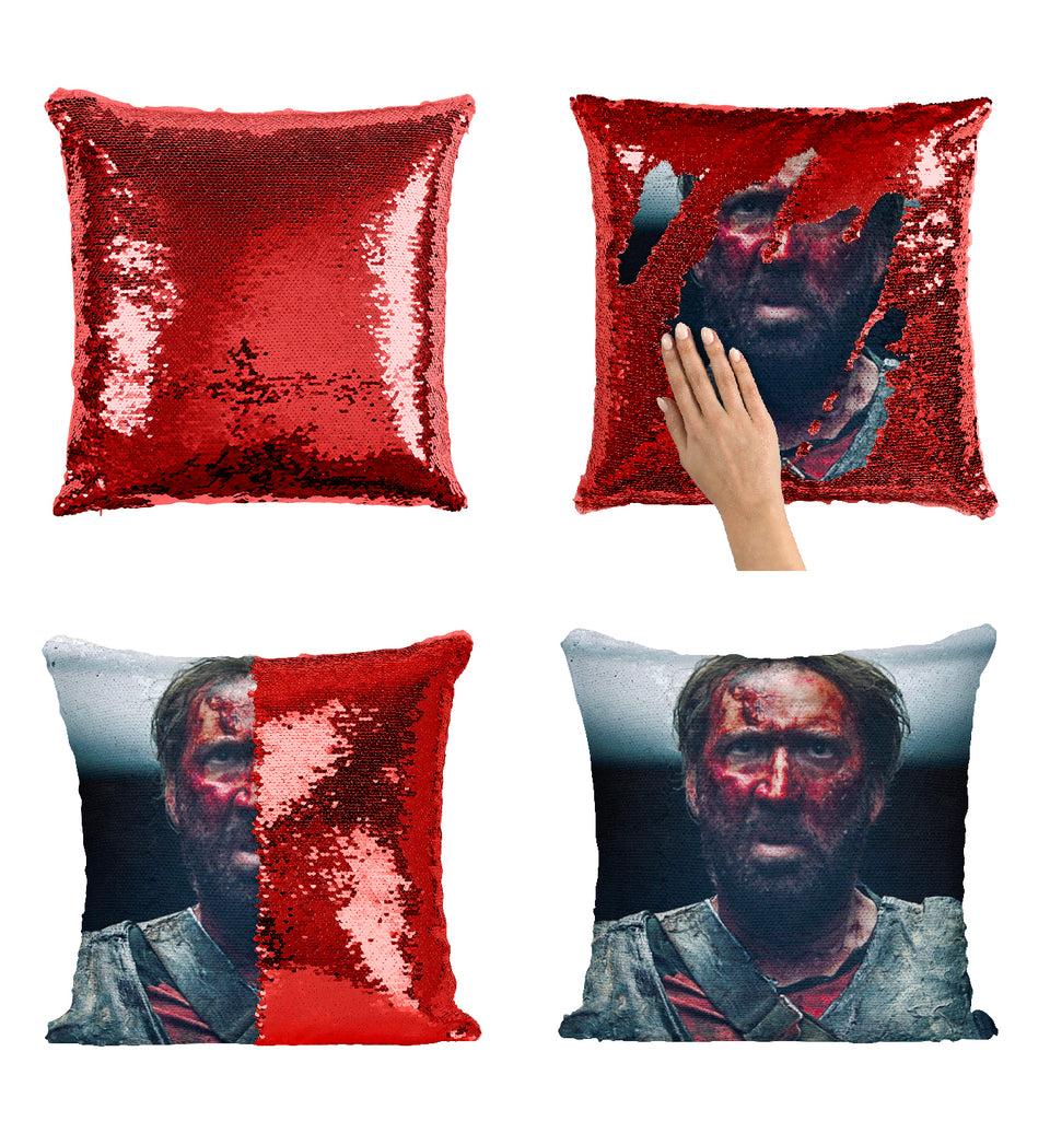 Nicolas Cage Covered In Blood_MA0270 Sequin Pillow