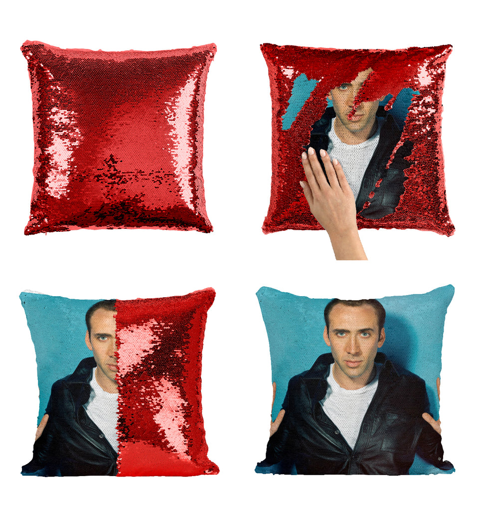 Nicolas Cage Young Actor_MA0271 Sequin Pillow
