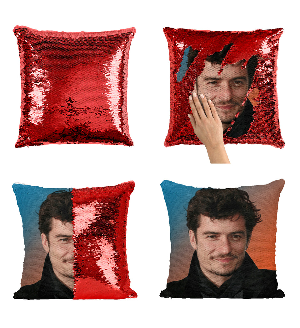 Orlando Bloom Beautiful LOTR Actor_MA0275 Sequin Pillow