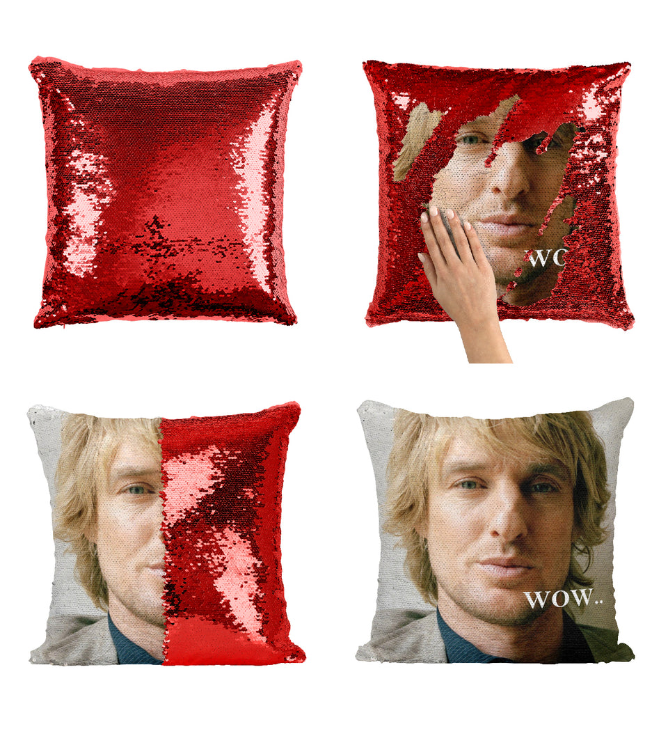 Owen Wilson Actor Wow Quote_MA0276 Sequin Pillow