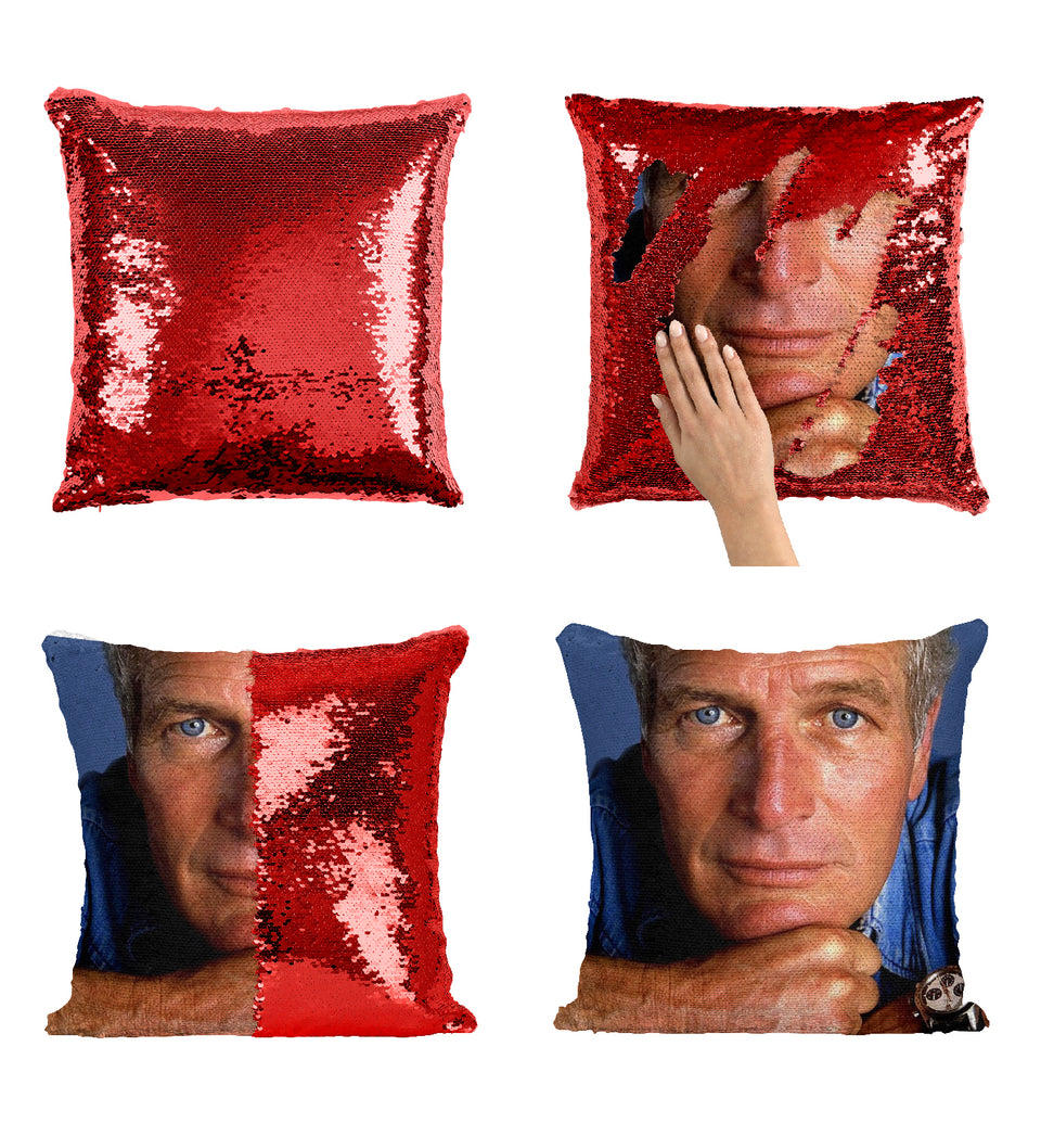 Paul Newman Hollywood Actor_MA0277 Sequin Pillow