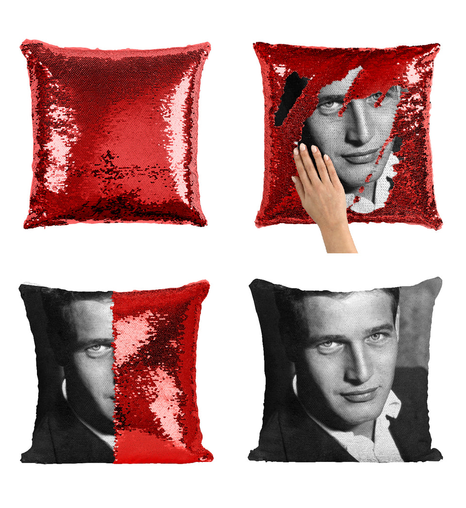 Paul Newman The Sting Movie Actor Oldschool_MA0278 Sequin Pillow