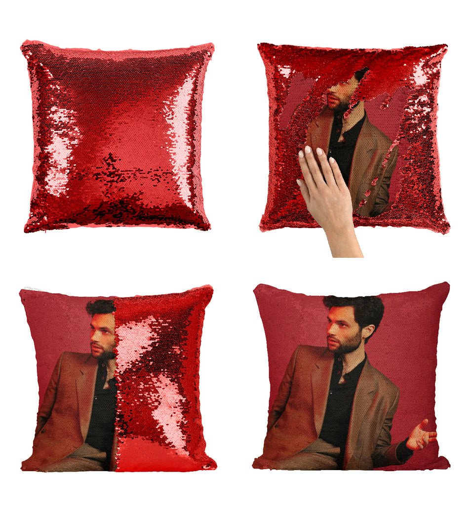 Penn Badgley Gossip Girl Star_MA0282 Sequin Pillow