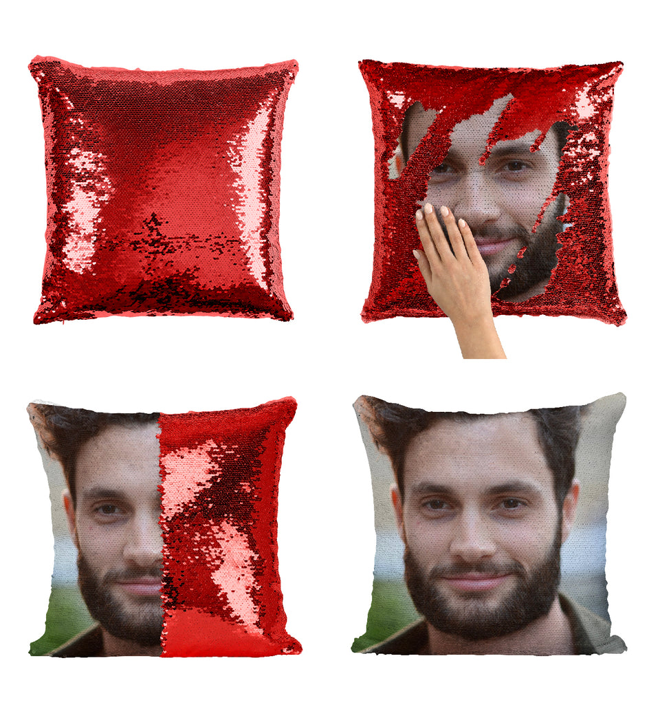 Penn Badgley Sexy Hollywood Actor_MA0283 Sequin Pillow