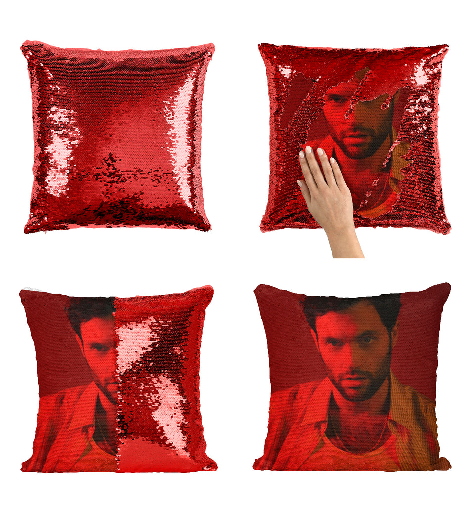 Penn Badgley Tv Series You Actor_MA0284 Sequin Pillow