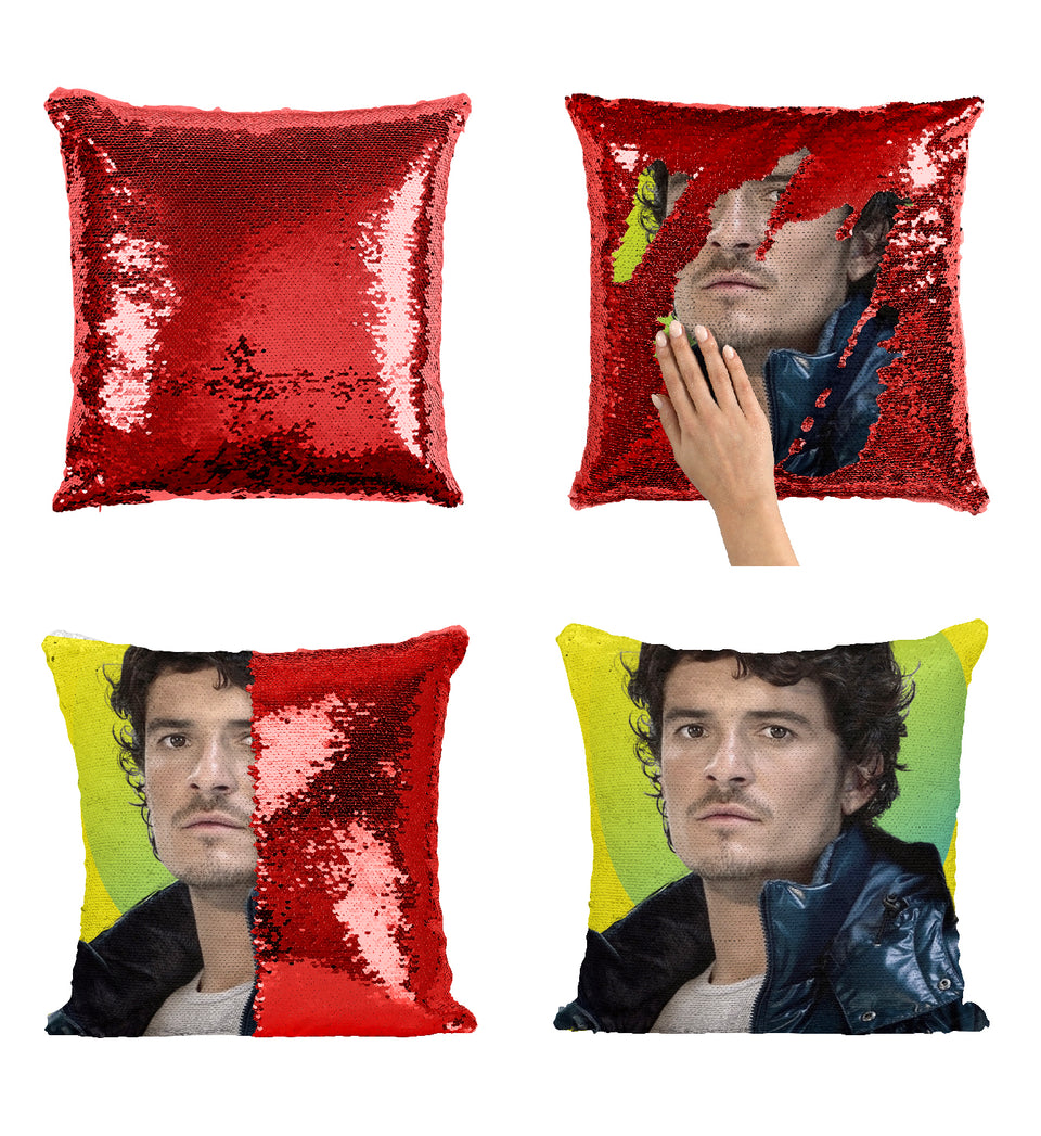 Pirates Of The Caribbean Actor Orlando Bloom_MA0288 Sequin Pillow