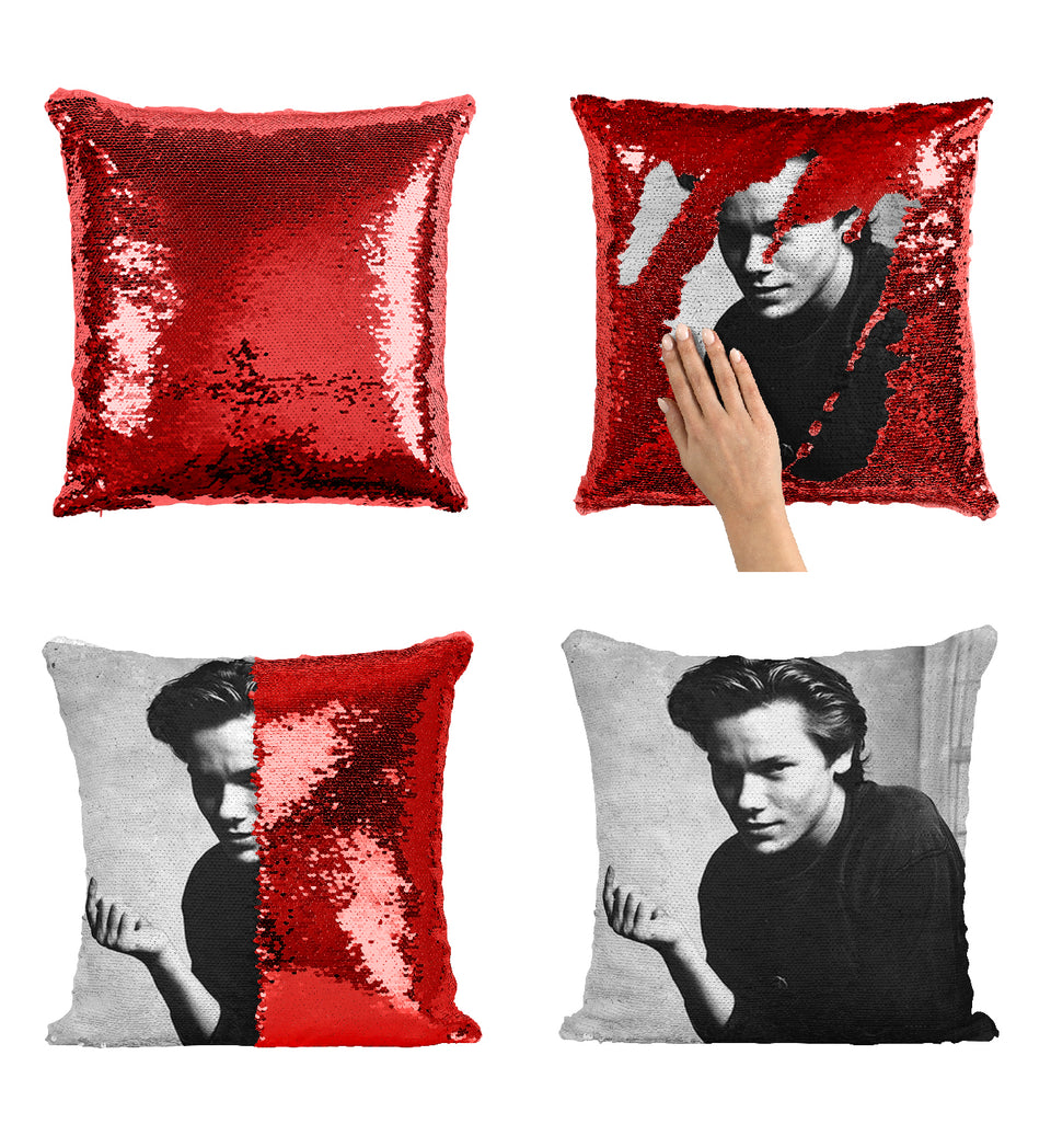 River Phoenix Beautiful Actor_MA0292 Sequin Pillow