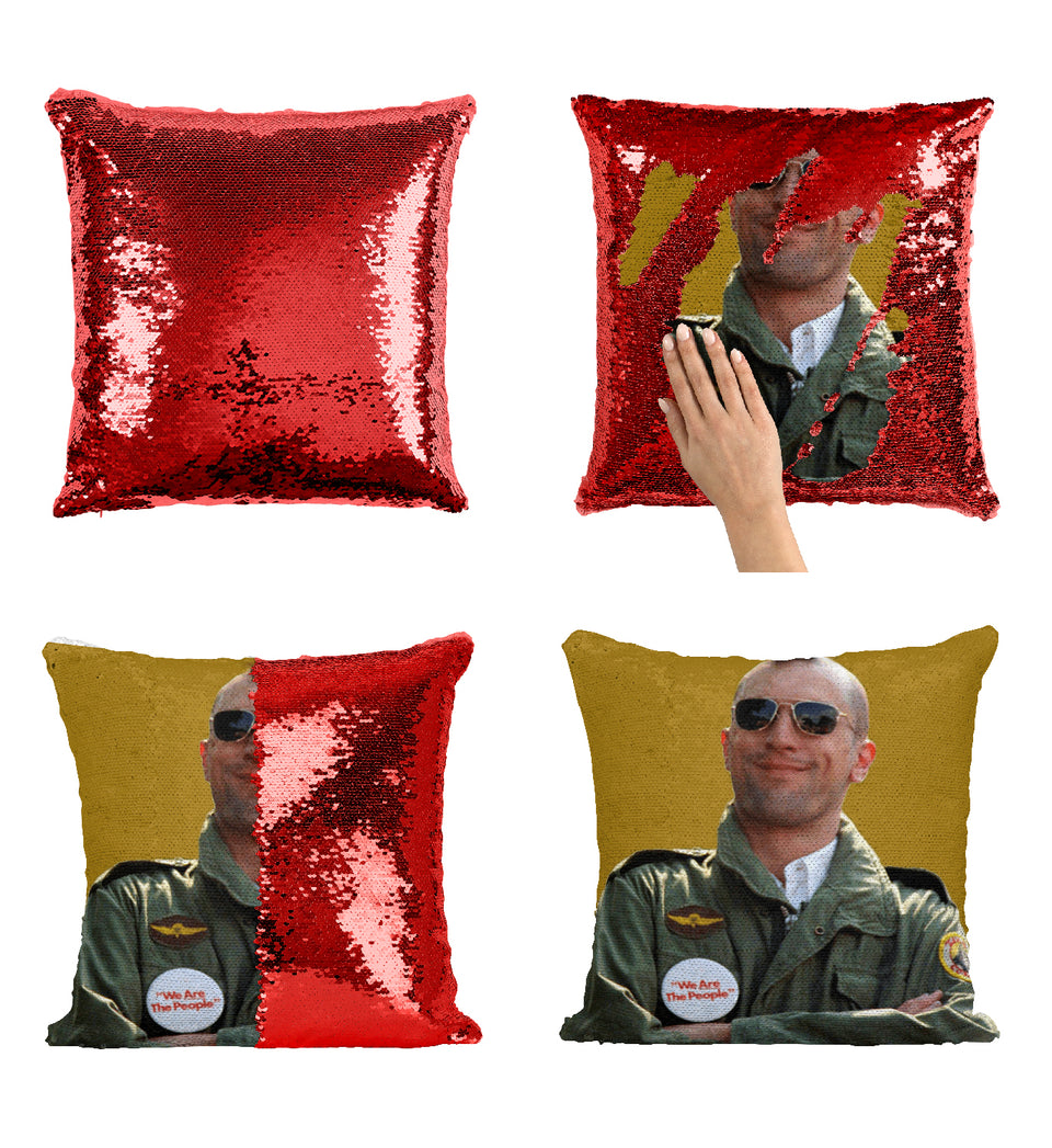Robert De Niro Pilot Funny_MA0294 Sequin Pillow