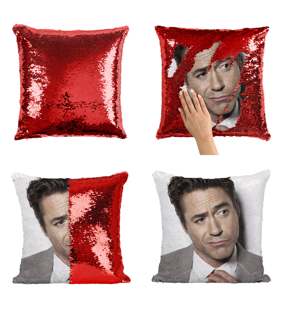 Robert Downey Jr. Iron Man Character_MA0296 Sequin Pillow