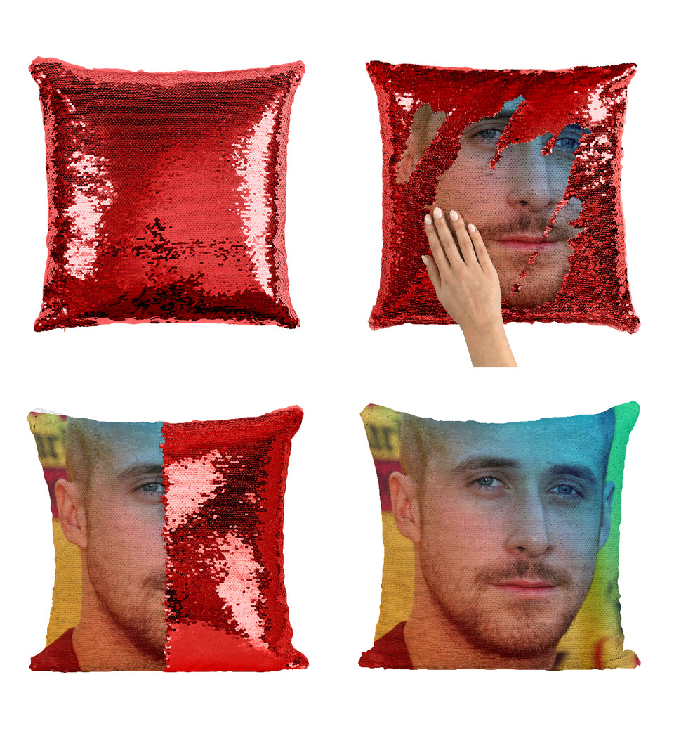 Ryan Gosling Sexy Actor Beautiful_MA0309 Sequin Pillow