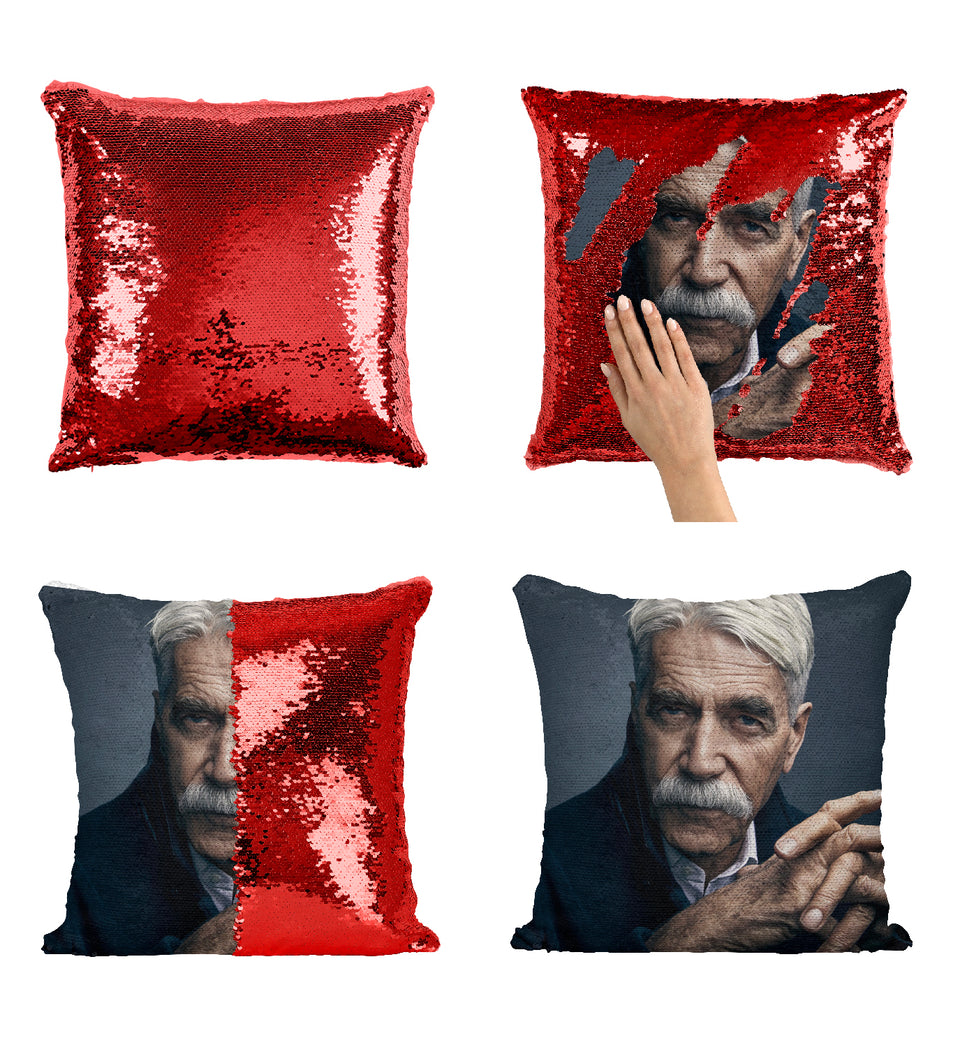 Sam Elliott The Star Is Born_MA0313 Sequin Pillow