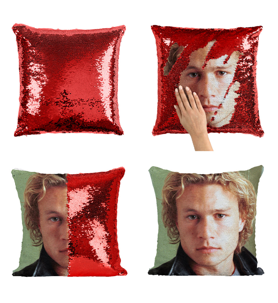 Sexy Hollywood Actor Heath Ledger_MA0331 Sequin Pillow