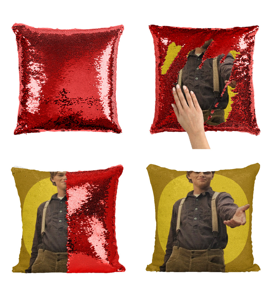 Titanic Movie Scene Leonardo DiCaprio_MA0351 Sequin Pillow