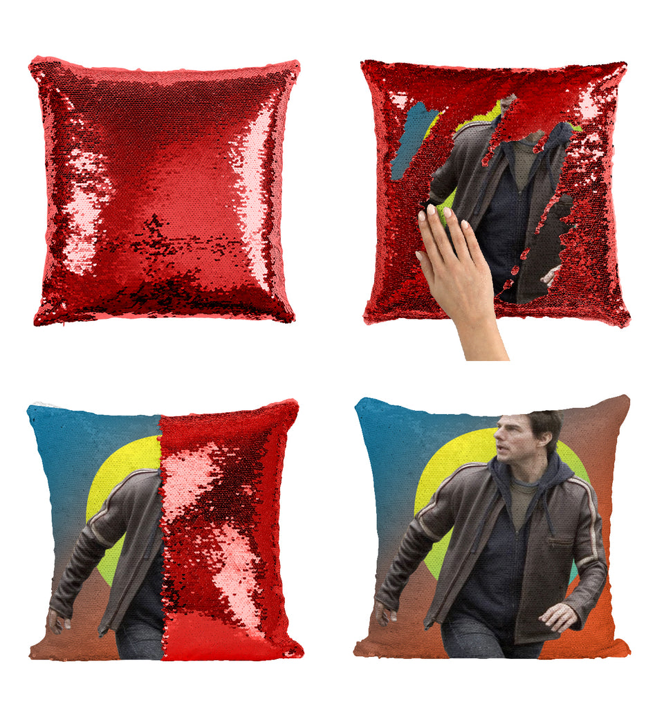 Tom Cruise Mission Impossible Actor_MA0352 Sequin Pillow