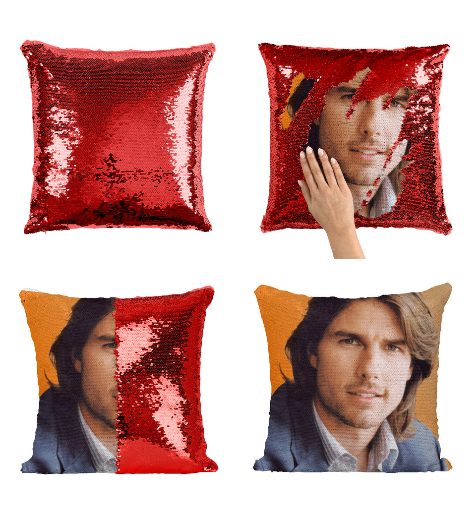Tom Cruise Young Beautiful Hair_MA0353 Sequin Pillow