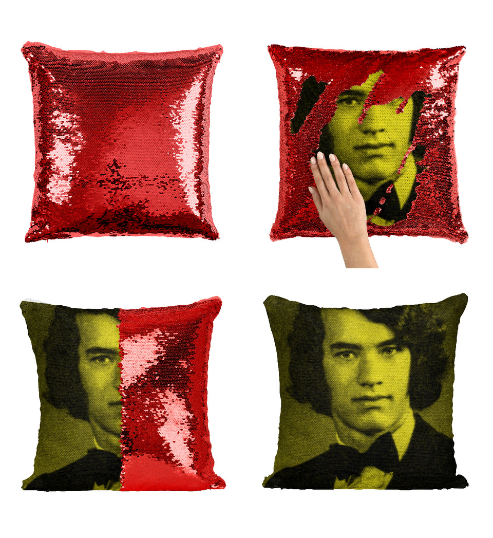 Tom Hanks Young Funny Haircut_MA0355 Sequin Pillow
