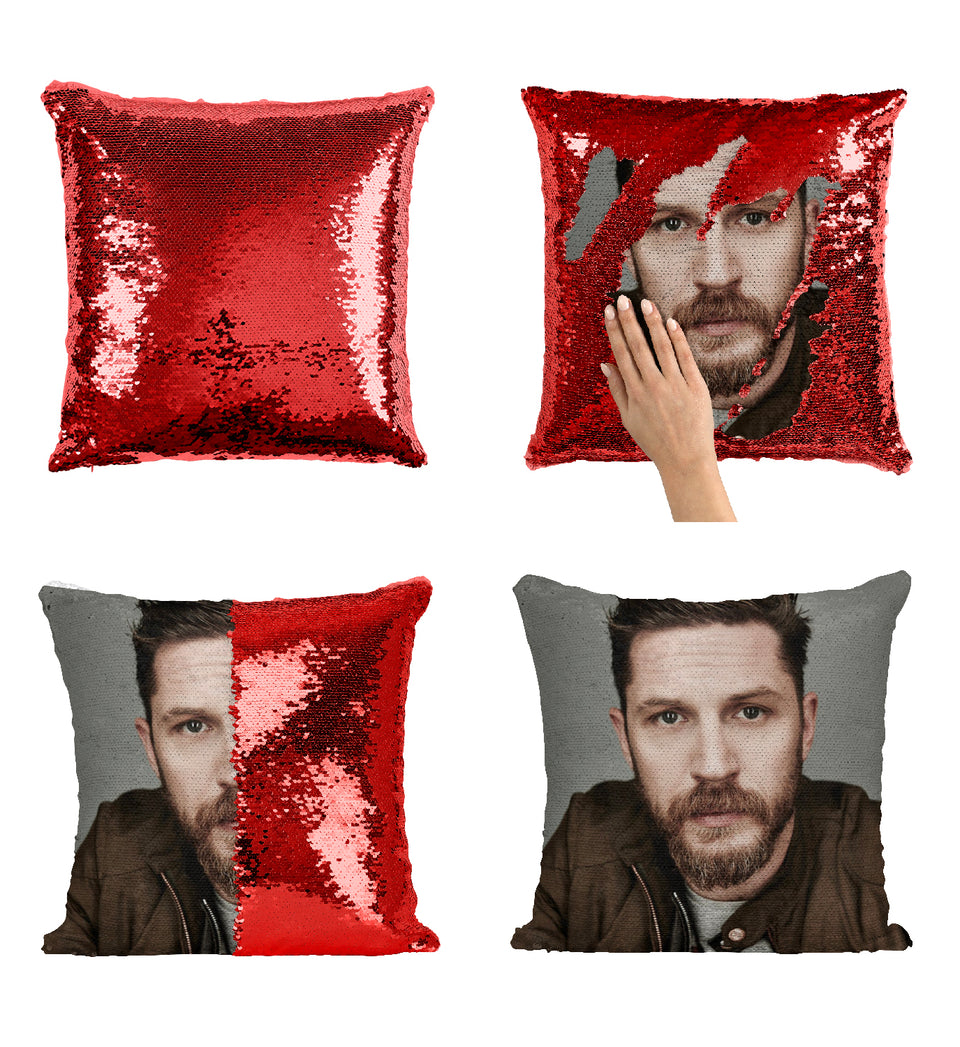Tom Hardy  Actor From Inception_MA0356 Sequin Pillow