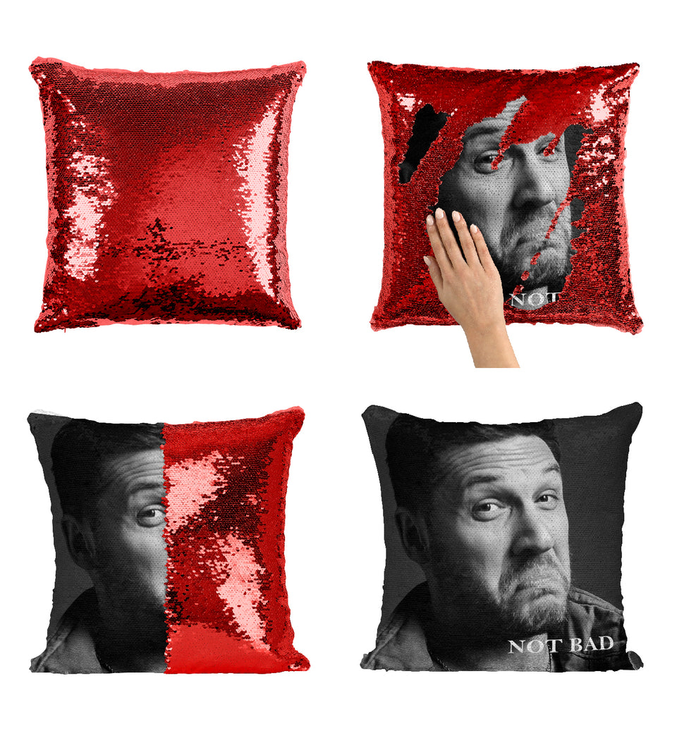 Tom Hardy  Funny Not Bad Face_MA0357 Sequin Pillow