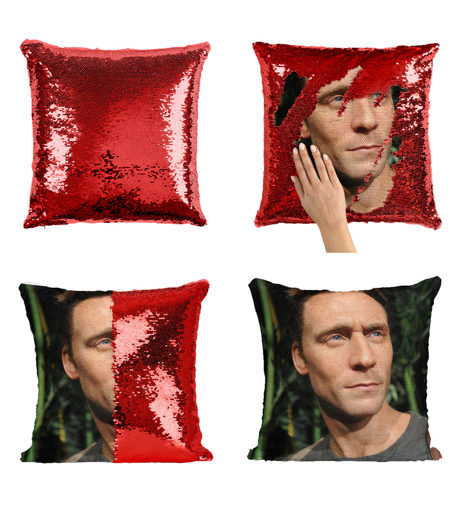 Tom Hiddleston Hollywood Actor_MA0359 Sequin Pillow