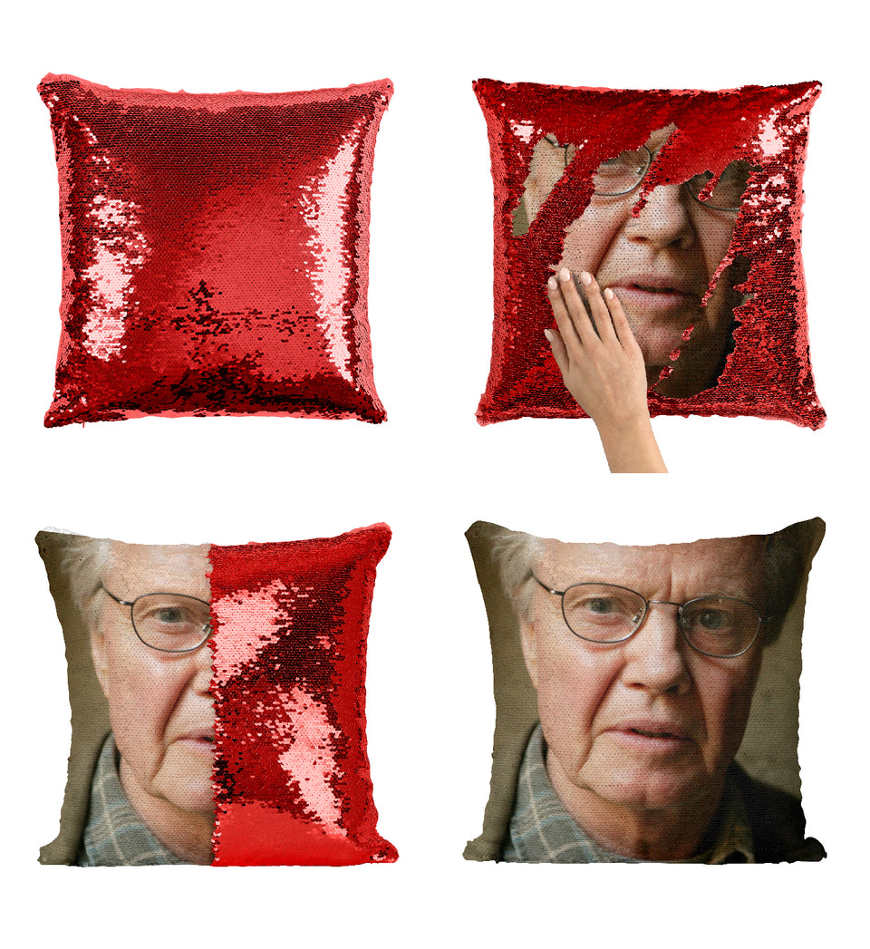 Tomb Raider Movie Actor Jon Voight_MA0361 Sequin Pillow