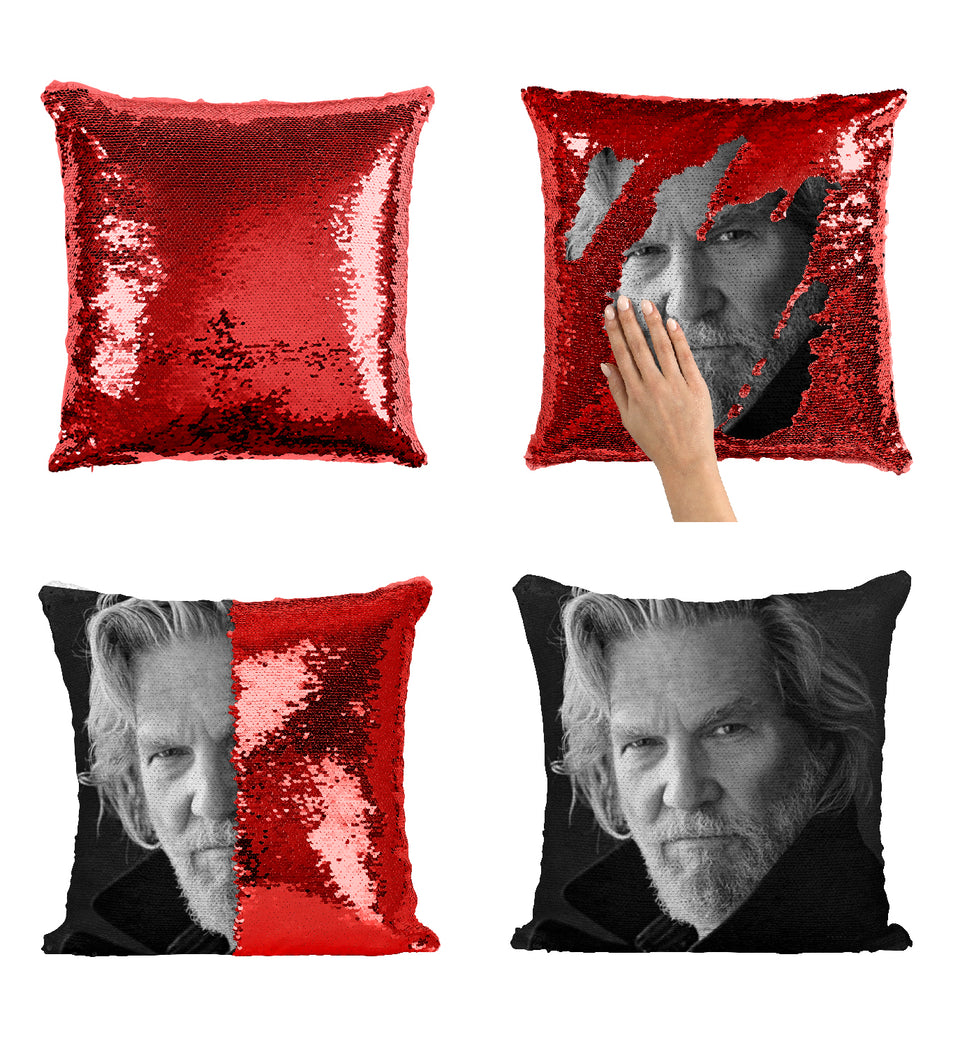 Tron Movie Jeff Bridges Actor_MA0362 Sequin Pillow