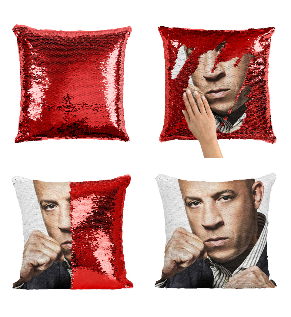 Vin Diesel Fast And Furious Actor_MA0363 Sequin Pillow