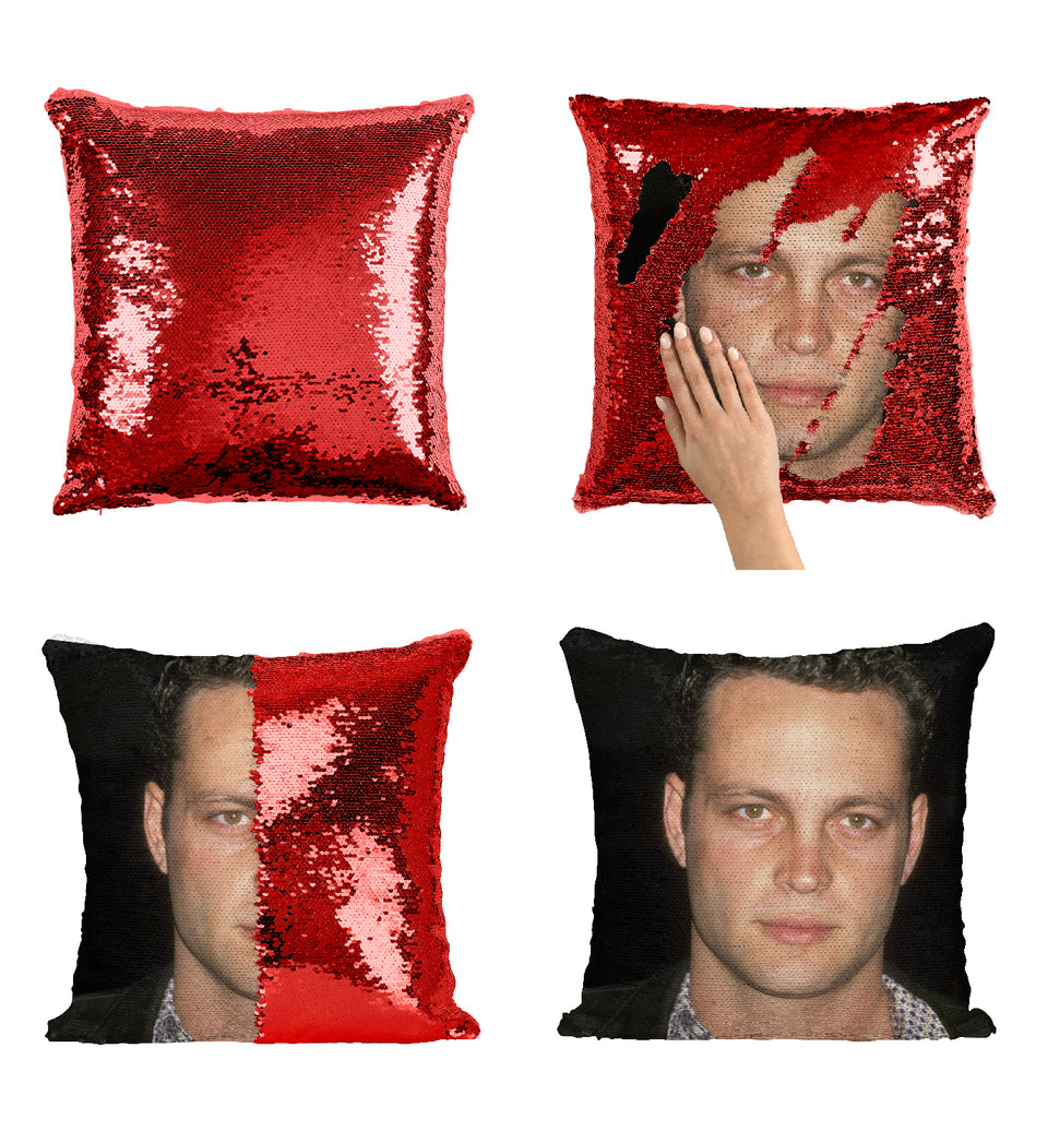 Vince Vaughn Funny Comedy Actor_MA0364 Sequin Pillow
