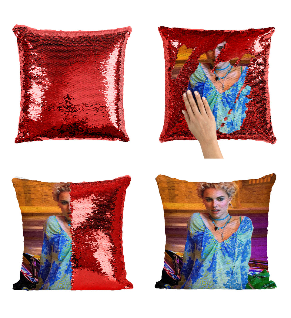 Vox Lux Movie Actress Natalie Portman_MA0366 Sequin Pillow