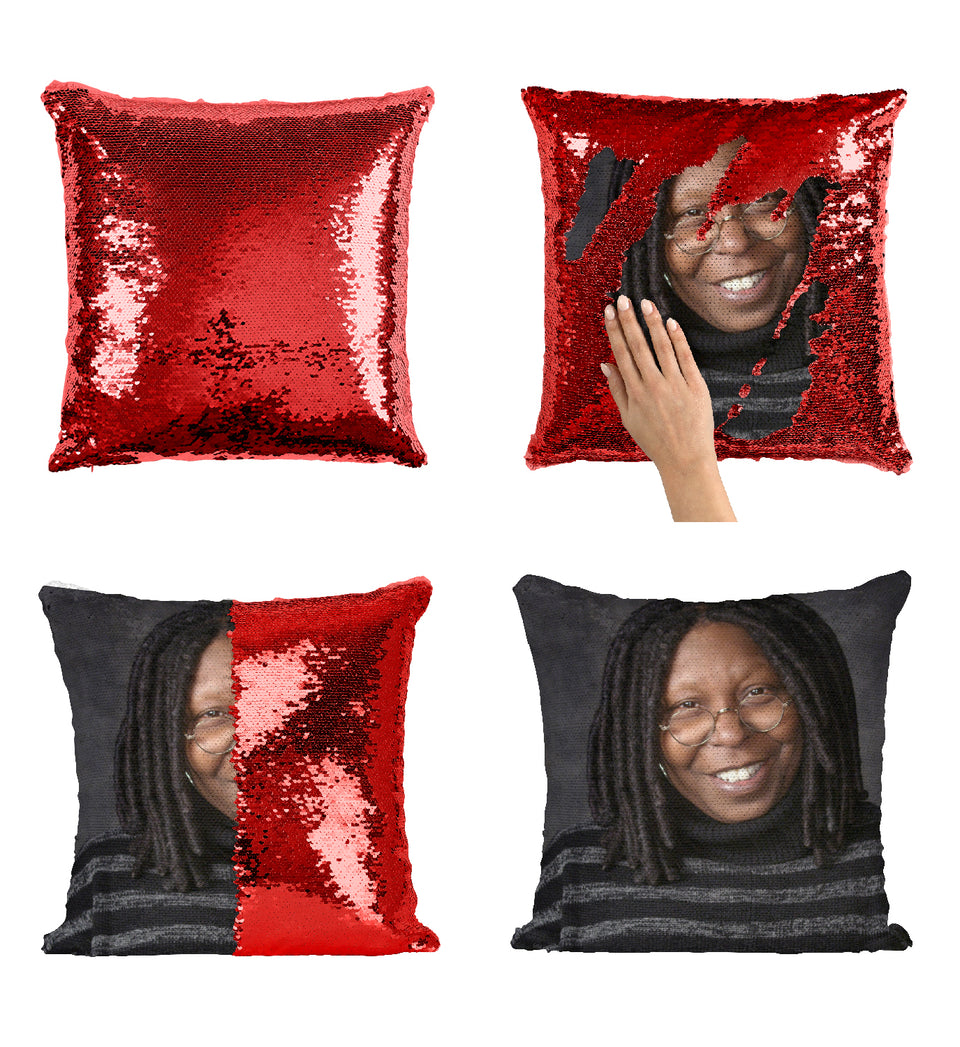 Whoopi Goldberg Legendery Hollywood Actresss_MA0367 Sequin Pillow