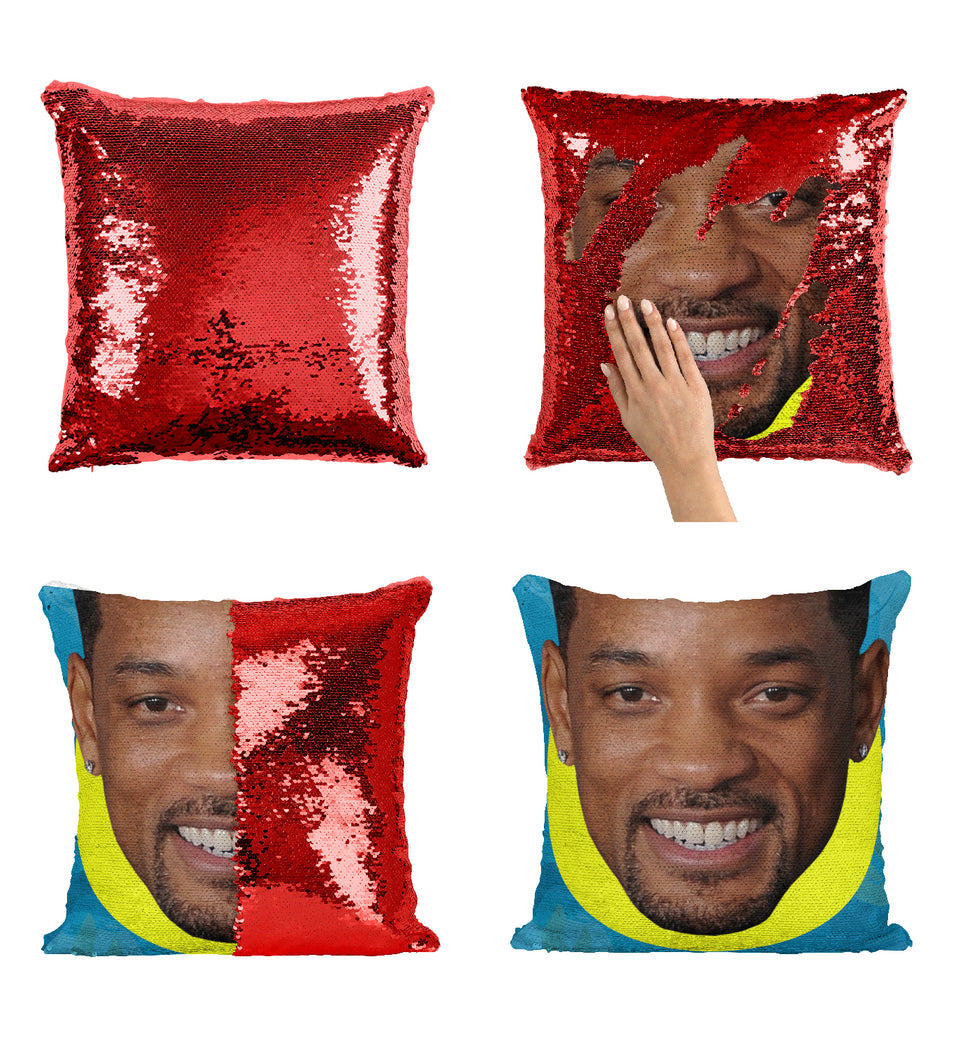 Will Smith Funny Actor_MA0368 Sequin Pillow