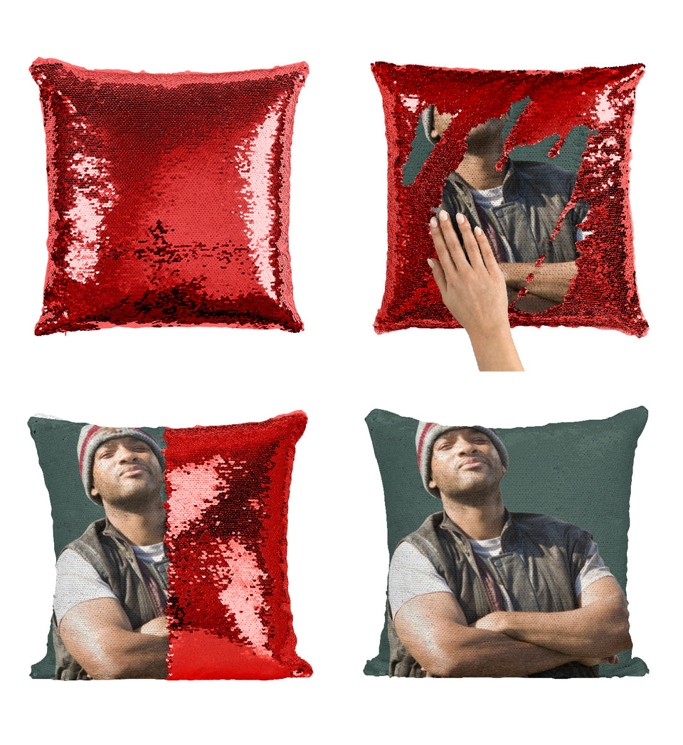 Will Smith Funny Hancock Movie_MA0369 Sequin Pillow