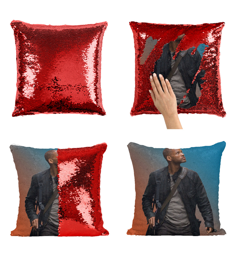 Will Smith I Am Legend Movie_MA0370 Sequin Pillow